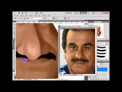 New digital painting caricature  abdulhussain abdulrihda kuwaiti actor