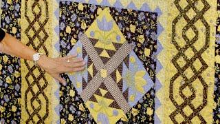 Learn to make Jill Finley's beautiful Meadow Weaver Quilt