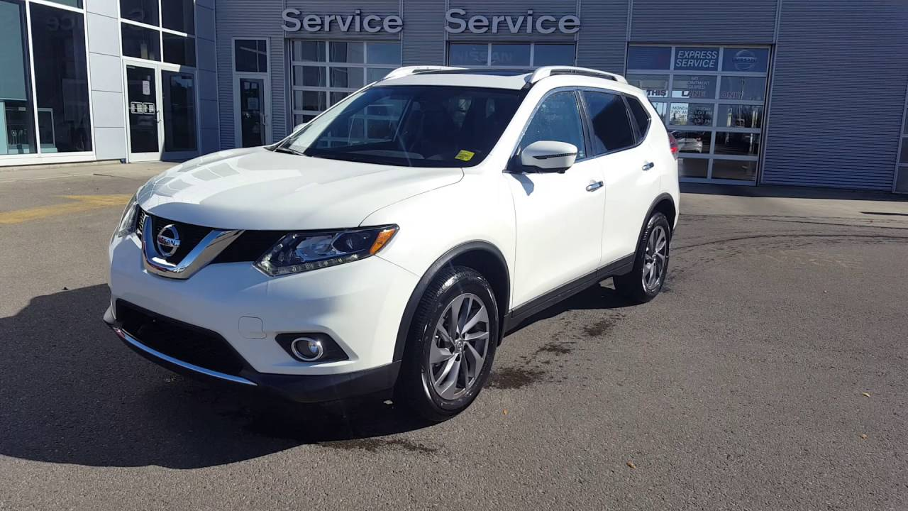 2016 Nissan Rogue Sl Awd Pearl White Sherwood Nissan