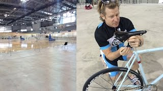 Former Olympic cyclist tests out Pan Am velodrome
