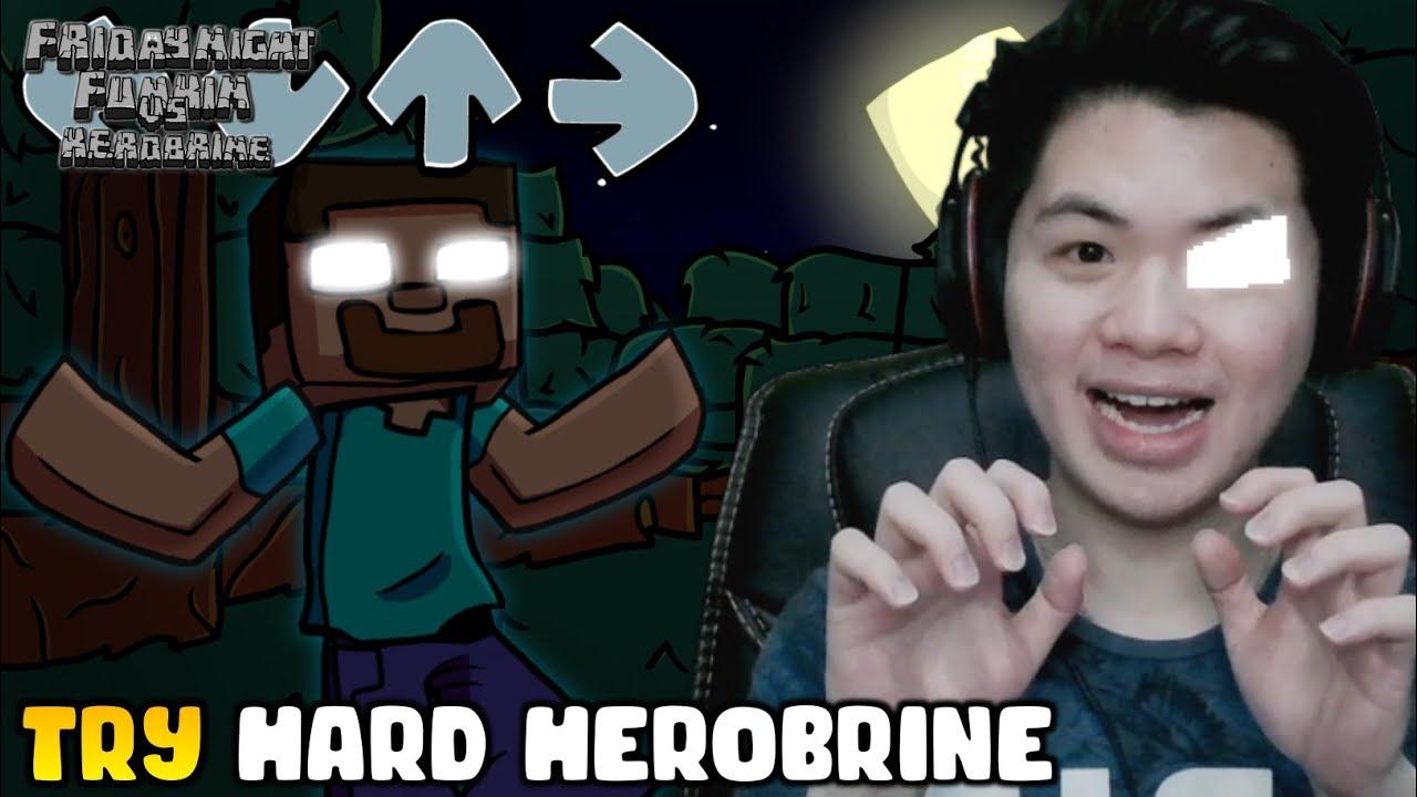 Download SEREM AMARAH HEROBRINE TINGKAT HARDCORE!! | VS Herobrine - Friday Night Funkin