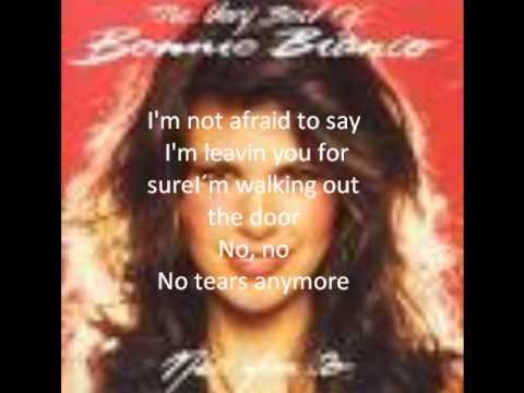 bonnie bianco, no tears anymore with lyrics