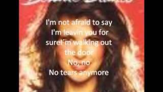 Bonnie Bianco No Tears Anymore With Lyrics