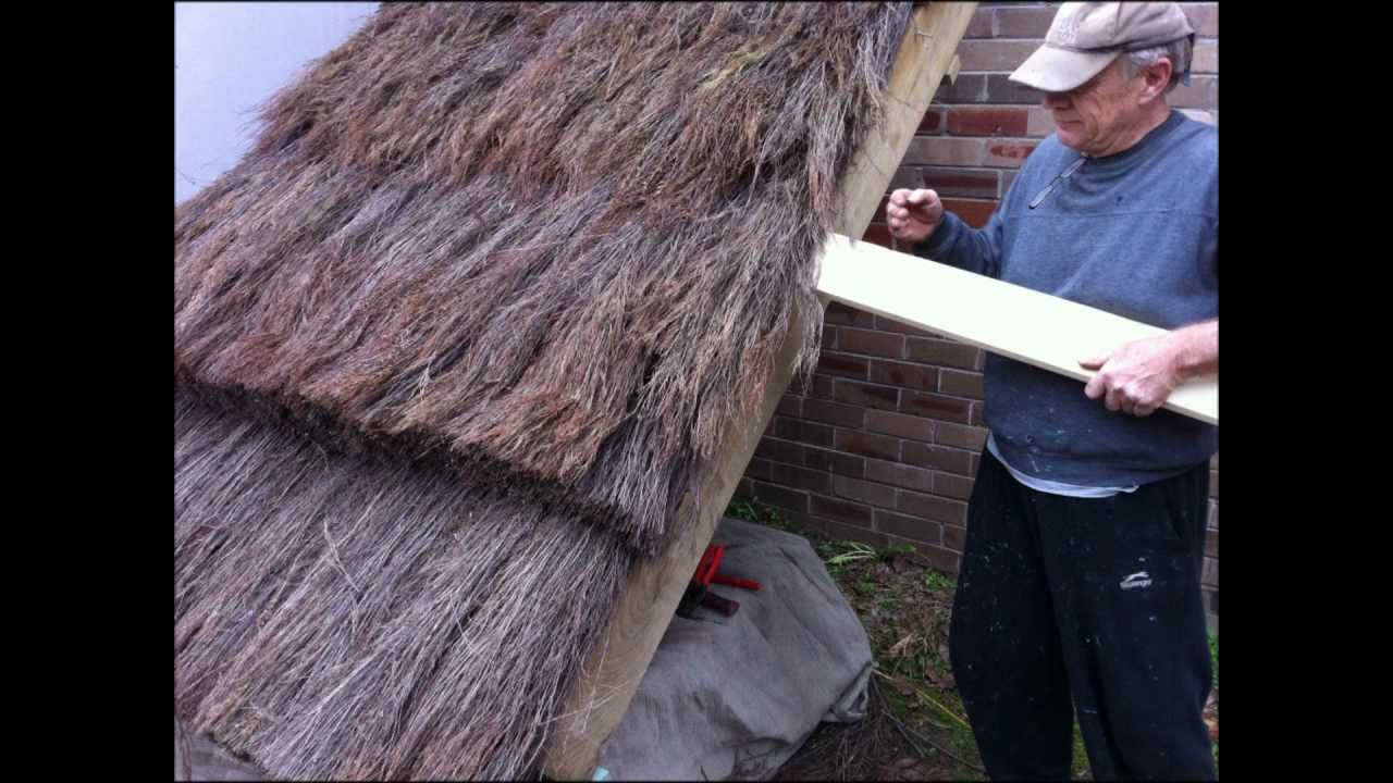 How To Build A Thatch Roof, UK European style - YouTube