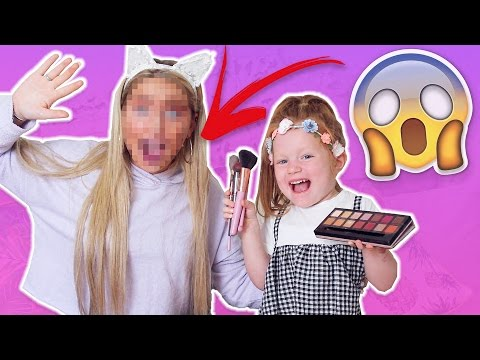 MY 4 YEAR OLD COUSIN DOES MY MAKEUP?!! *FAIL*