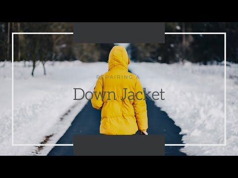 How To Fix A Ripped Down Jacket | 5 Minute Permanent Patch Repair