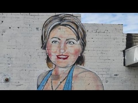 Aussie artist removed from social media following a provocative Hillary Clinton mural