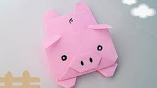 Origami Tutorial - How to fold Origami Pig