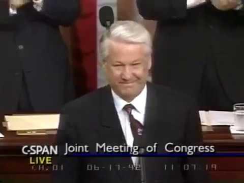 Борис Ельцин выступление в Конгрессе США 1992 г. полная версия. Boris Yeltsin in US Congress full