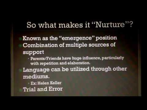 Language acquisition: nature vs nurture