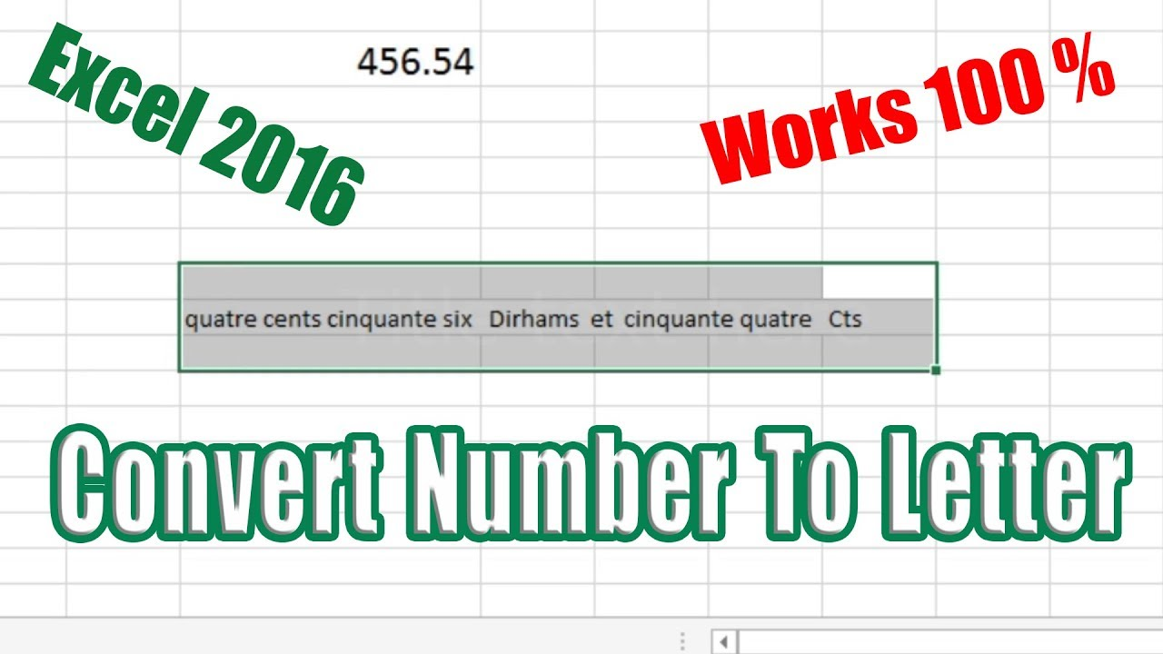 Convert Number To Letter.How To Convert Number To Letter In Excel 2013 And 2016 100 Works