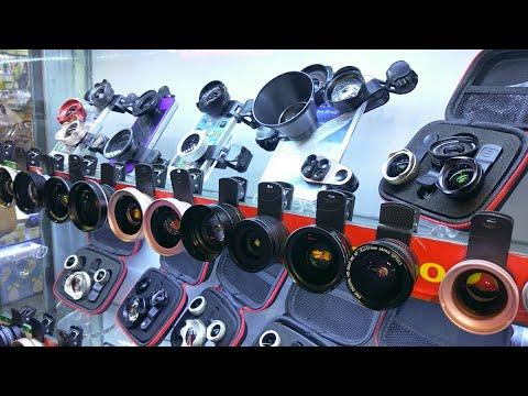 Testing Smartphone Camera Lenses at ShenZhen Huaqiangbei Electronics Market