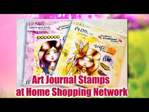 Now available at HSN: Cre8tive Cre8tions Art Journal Stamps with LDRS Creative
