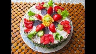 ОВОЩНОЙ торт - ПОКОРЯЕТ вкусом. Из кабачков, помидор, твердого сыра и т.д.