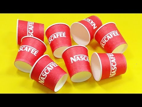 Disposable coffee cup reuse idea | DIY craft ideas from disposable Paper cups