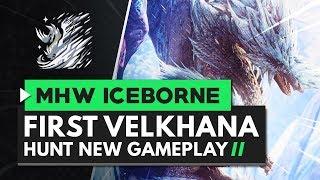 Monster Hunter World Iceborne | First Velkhana Hunt New Gameplay