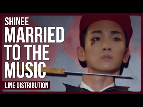 SHINee - Married To The Music Line Distribution (Color Coded)