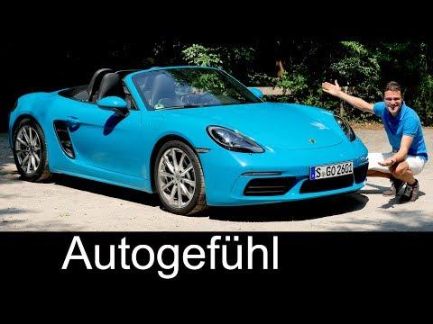 Porsche 718 Boxster FULL REVIEW test driven 2018 - Autogefühl