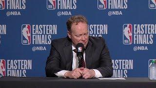 Mike Budenholzer Postgame Interview - Game 6 | Raptors vs Bucks | 2019 NBA Playoffs