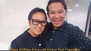Happy Birthday Weng with Couture Food Preparation @jimi_buenconsejo Haute Home 😍👏🏻💕🎂 I
