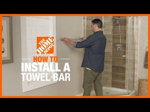 How to Install a Towel Bar | DIY Bathroom Renovation Ideas | The Home Depot