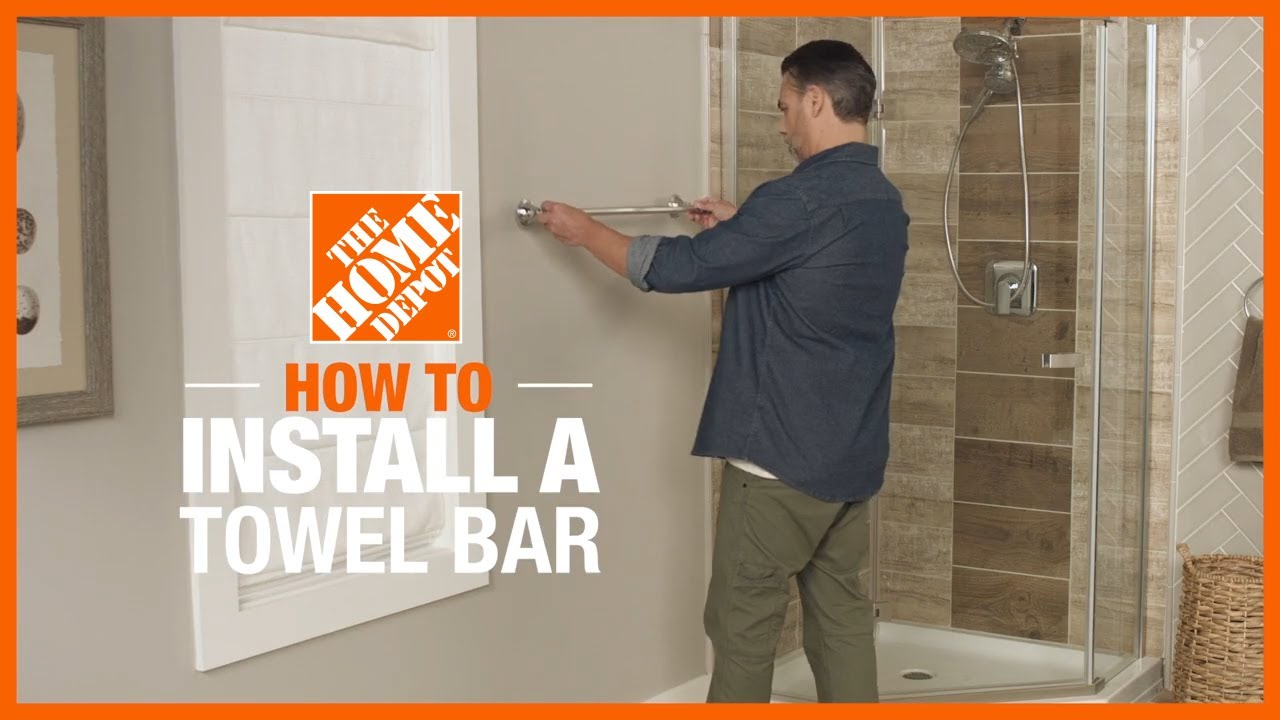 How To Install A Towel Bar The Home Depot
