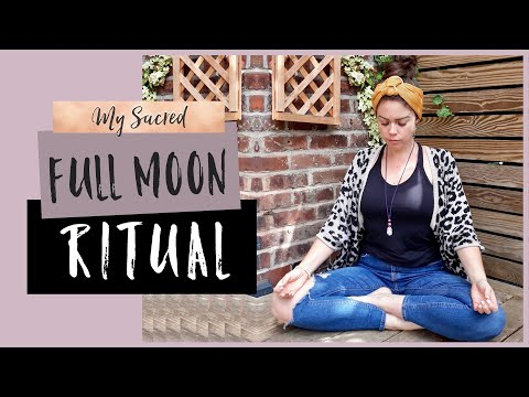 MY FULL MOON RITUAL TO RELEASE BLOCKAGES