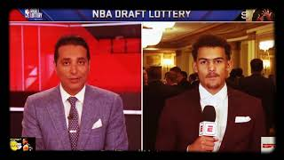 Trae Young at NBA Draft Lottery talks Stephen Curry LeBron James Nike Under Armor Cleveland Cavs