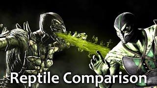 Mortal Kombat X - REPTILE Comparison VS MK9! (Intro, Gameplay, Combos, Xray, Fatality!) MKX!