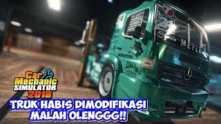 Truk di Modifikasi Malah Oleng di Lintasan Car Mechanic Simulator 2018