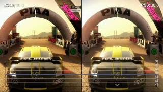 DiRT 2 Demo Xbox 360 v/s PS3