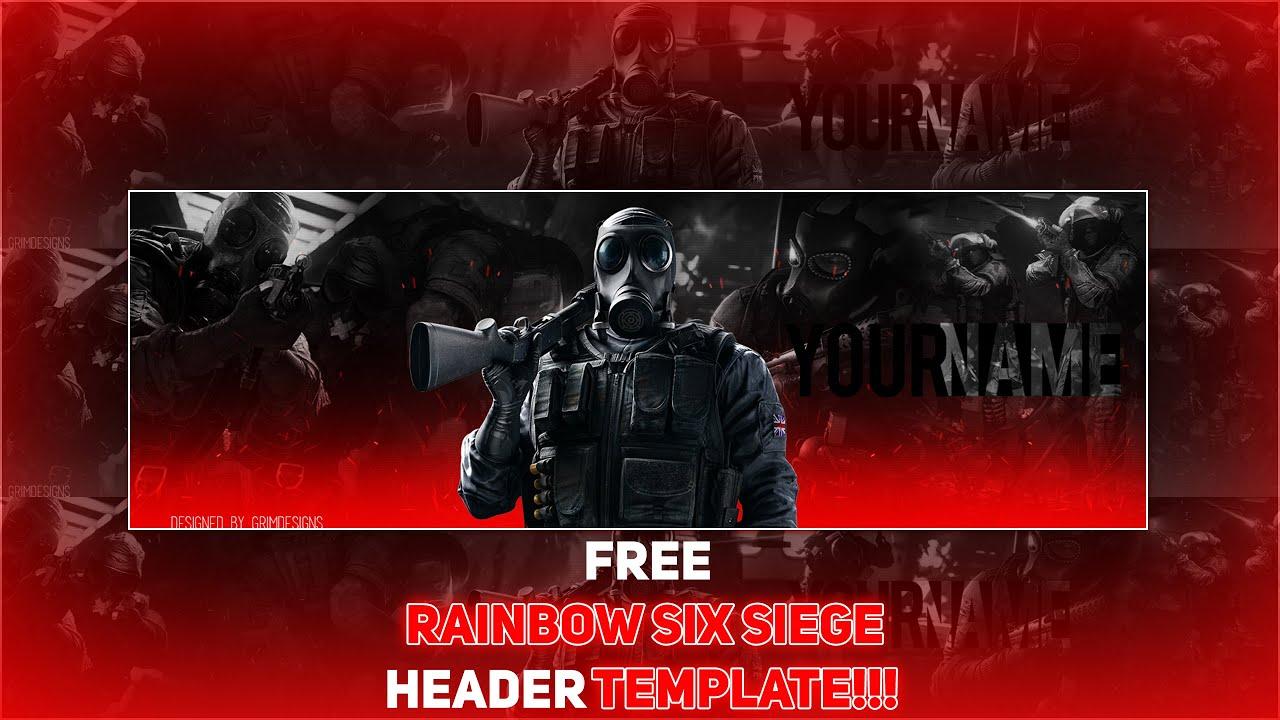Free Rainbow Six Siege Logo Template By Grimdesigns