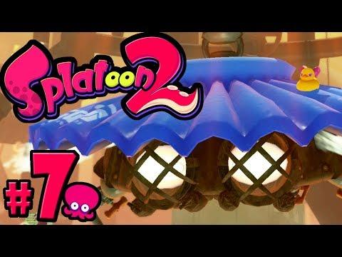 Splatoon 2 - Single Player PART 7 - Switch Gameplay Walkthrough - Story: World 4 + 4th Boss - Brella