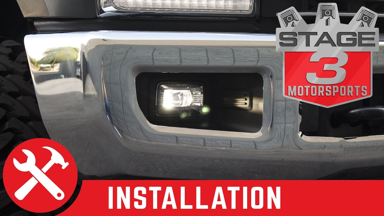 2017 f250 f350 morimoto xb led replacement projector fog lights install [ 1280 x 720 Pixel ]