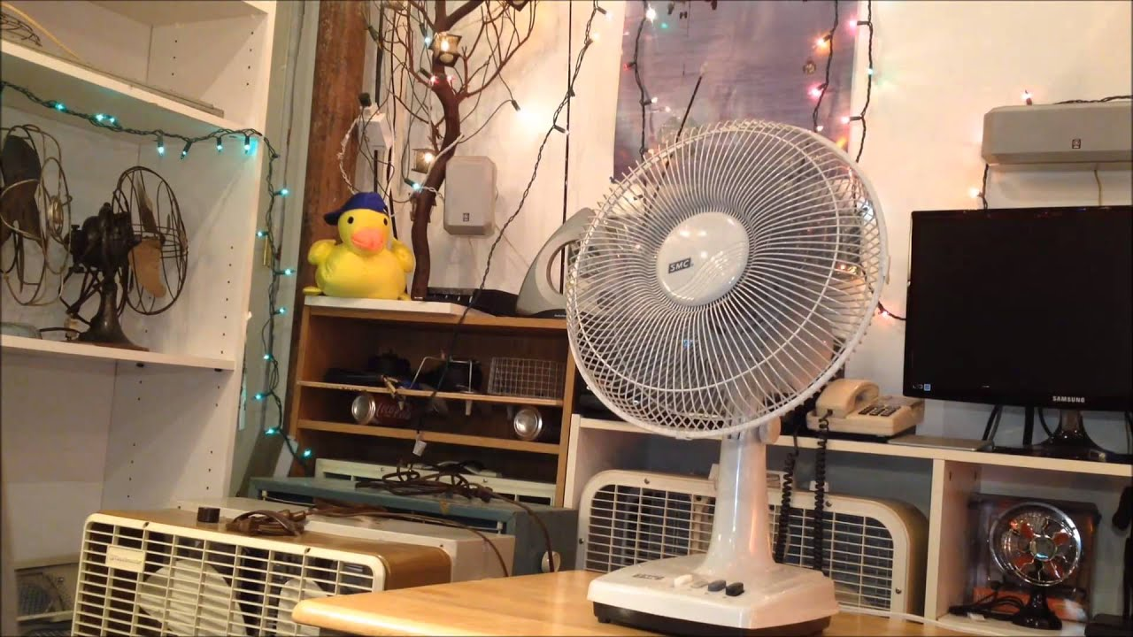 From Smc Stand Fan : Smc quot oscillating table fan model th youtube