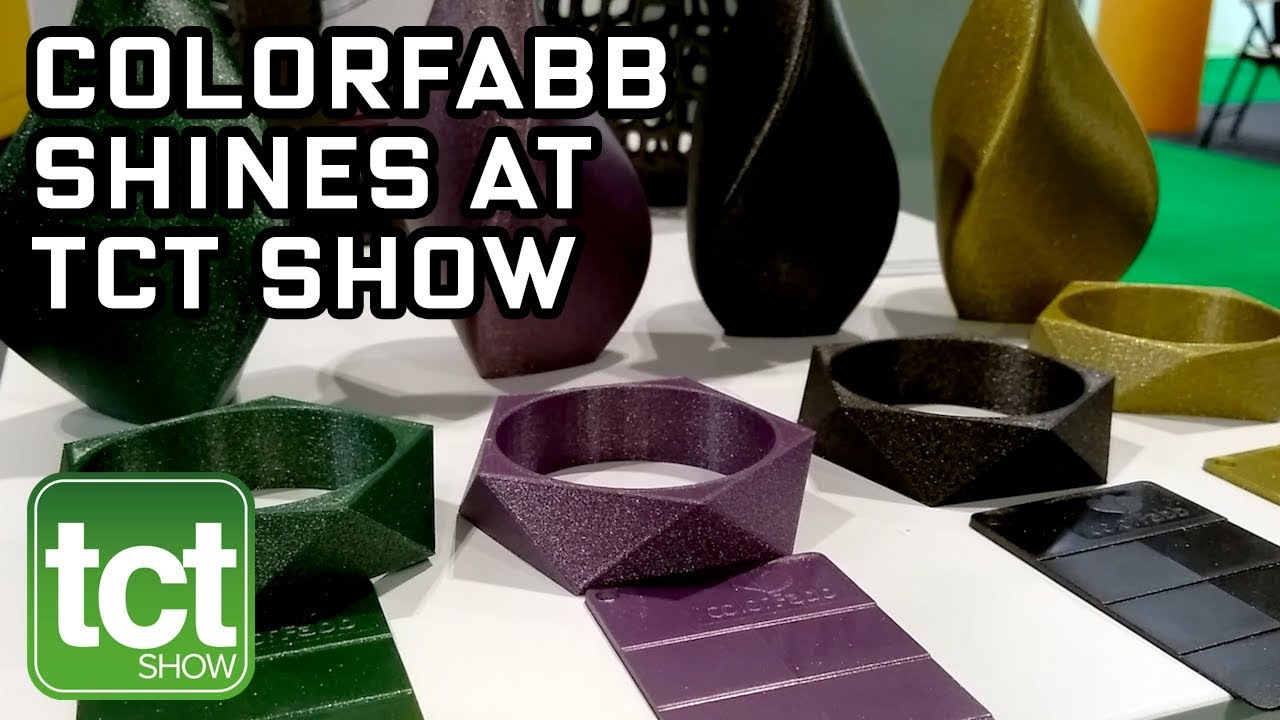 colorFabb LUX 3D printing at TCT Show
