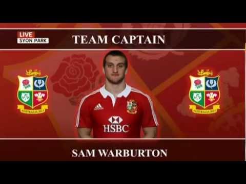Lions 2013 Squad and captain announcement