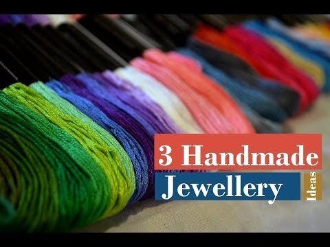 3  Handmade Jewellery Ideas | How To Make Thread Necklace At Home | Creation&you