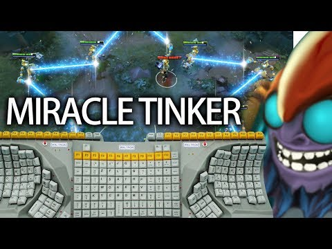 There are so many button! Miracle Pro Tinker 9K MMR Top Player Dota 2