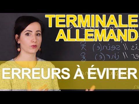Erreurs faciles à éviter - Allemand - Terminale - Les Bons Profs from YouTube · Duration:  10 minutes 14 seconds