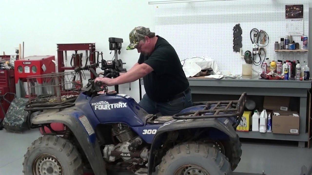 pt 3 honda trx300 carb repair at d-ray's shop