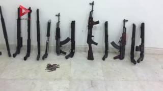 بالفيديو والصور  ضبط 216 قطعة سلاح و9 كيلو هيروين في