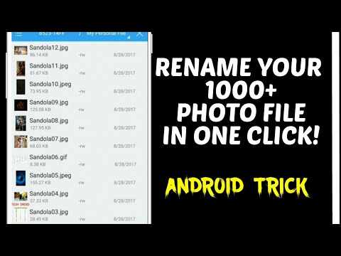 Android Trick || How To Rename Your Many File Photo In One Click || Easily