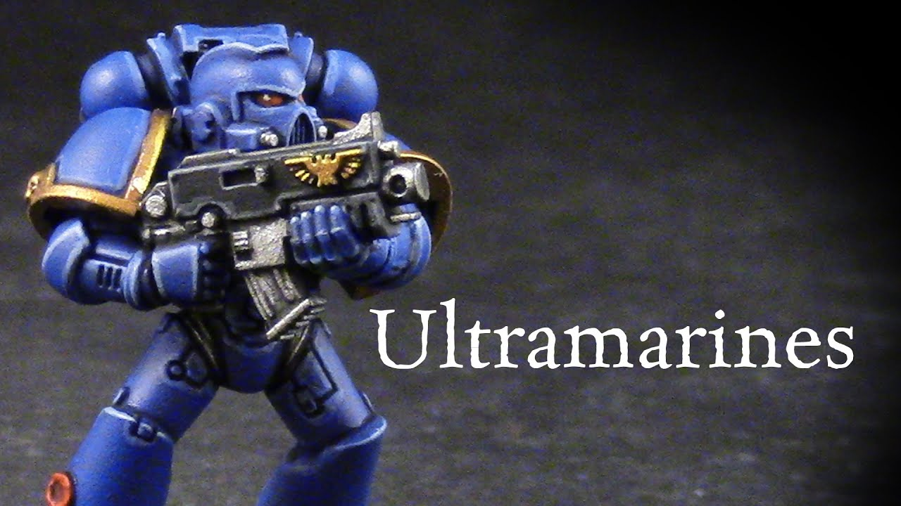 How to paint Ultramarines Space Marines - YouTube