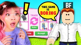 TEACHING my *BORING* BF HOW TO PLAY ADOPT ME ROBLOX! Hot VS Cold Couple's Trading Challenge!