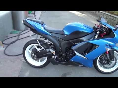 2007 Kawasaki Ninja ZX 6R Blue