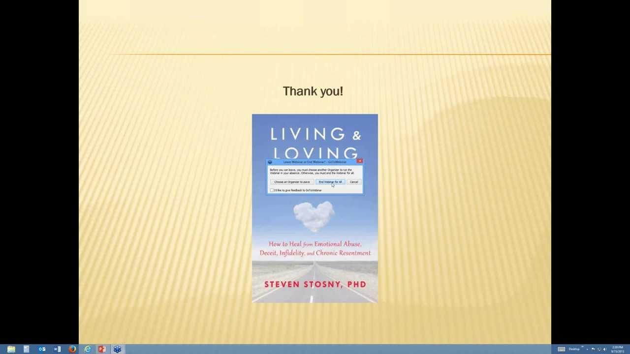 Steven Stosny, PhD on Living & Loving After Betrayal