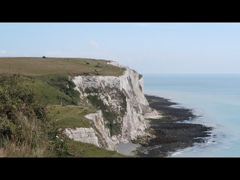 I almost fell off the white cliffs. (Dover)