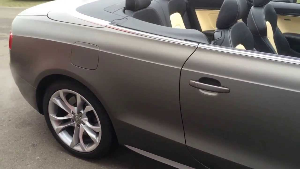 Audi S5 Cabrio Wrapped In 3m Matte Charcoal Youtube