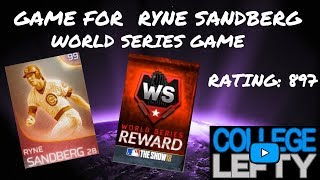 GAME FOR WORLD SERIES!!! IMMORTAL RYNE SANDBERG!! MLB THE SHOW 18